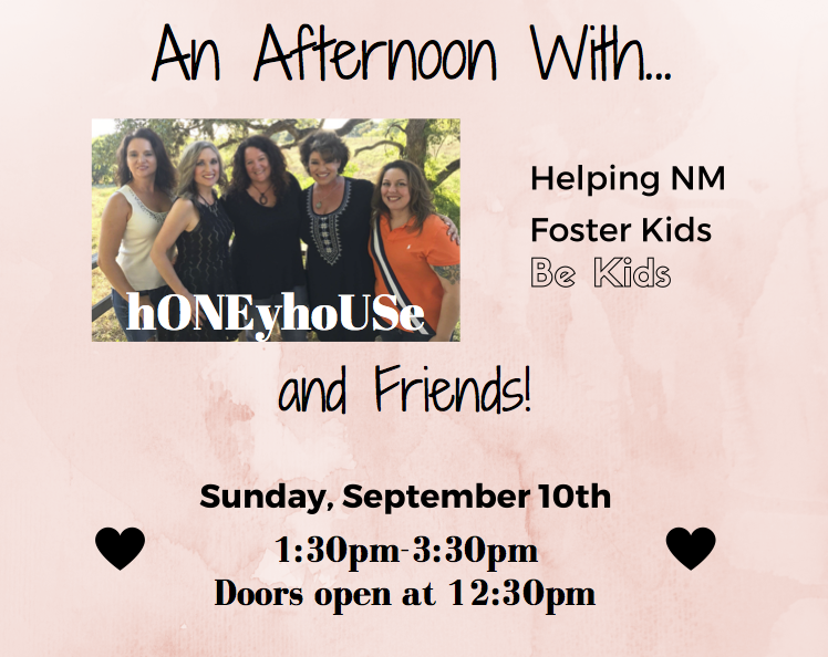 hONEyhoUSe Benefit for NMFFC September 2017